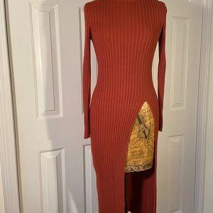 NWOT FrenchConnectionTurtleneck SplitSweater Dress